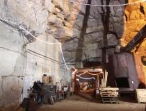 halle souterraine - entrée du site
